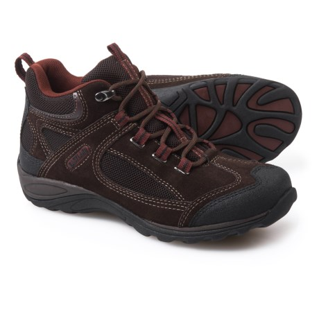 Eastland Tacoma Mid Hiking Boots - Suede (For Women) in Dark Brown/Maroon