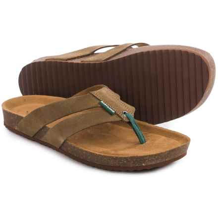 Eastland Tristan Flip-Flops (For Men) in Khaki Suede - Closeouts
