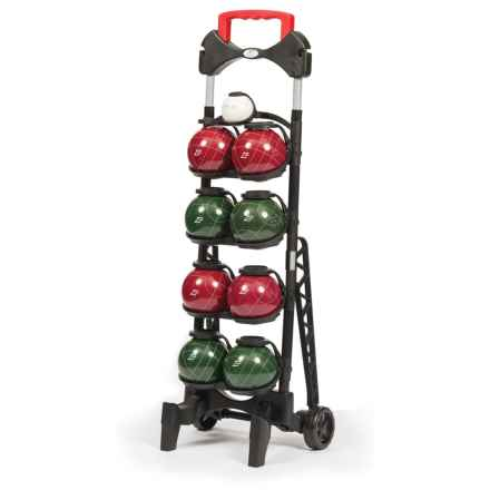 EastPoint Resin 103mm Bocce Ball Set with Caddy in See Photo - Overstock