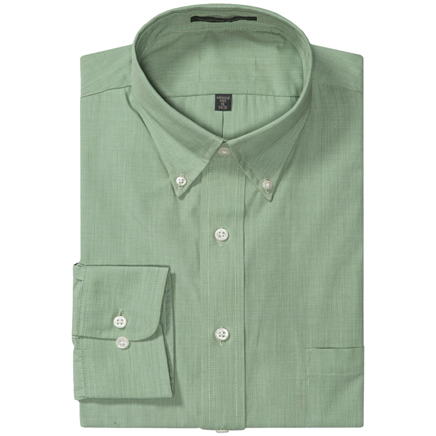 Easy Care Dress Shirt Button Down Long Sleeve For Men