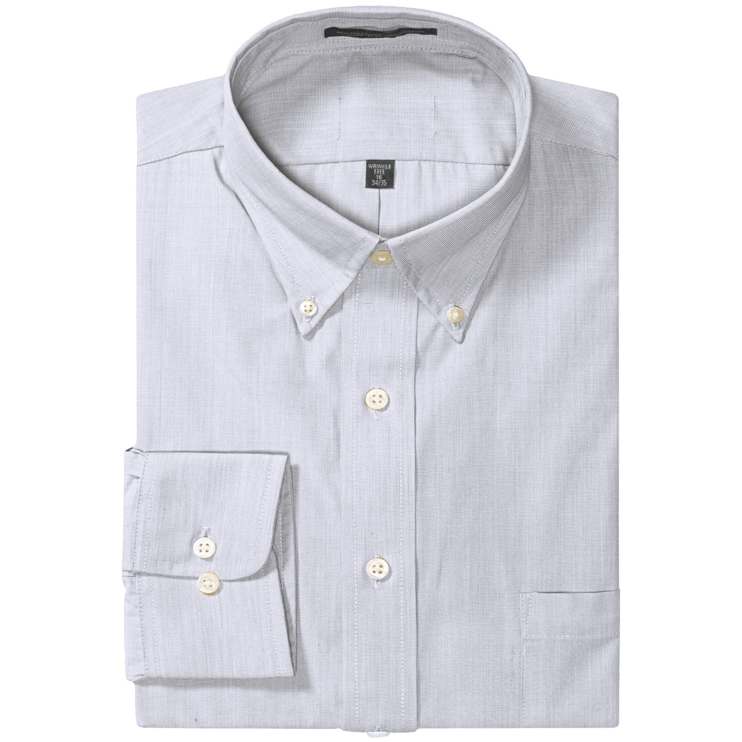 Easy care dress shirt button down long sleeve for men for Mens white button down dress shirts