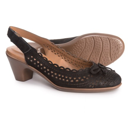 1c1132c55ae Easy Spirit Chatt Slingback Shoes - Nubuck (For Women) in Black Nubuck -  Closeouts