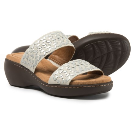 11ae40ec2 Easy Spirit Dahlia Wedge Sandals - Leather (For Women) in Ivory