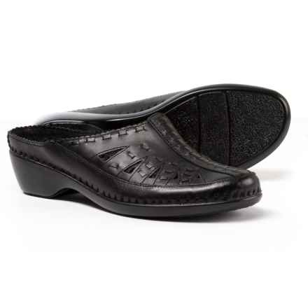 Easy Spirit Dolly Mule Shoes - Leather (For Women) in Black - Closeouts