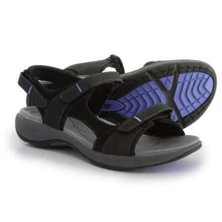 Easy Spirit Egnita3 Sandals (For Women) in Black/Black - Closeouts