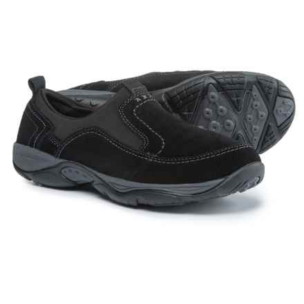 Easy Spirit Ementrie Shoes - Suede (For Women) in Black/Black - Closeouts