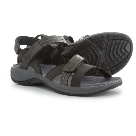 Easy Spirit Estina3 Sandals - Vegan Leather (For Women) in Black