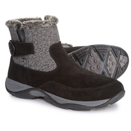 Easy Spirit Excel Boots - Suede (For Women) in Black  Black Multi 61a264069cba