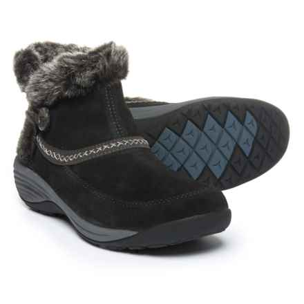 Easy Spirit Icerink Ankle Boots - Suede (For Women) in Black/Coal13/Black - Closeouts