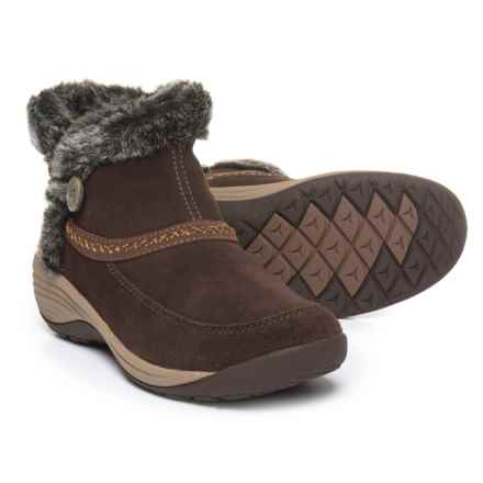 Easy Spirit Icerink Ankle Boots - Suede (For Women) in Brown - Closeouts