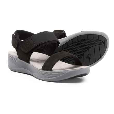 Easy Spirit Jasiele9 Wedge Sandals - Leather (For Women) in Black - Closeouts