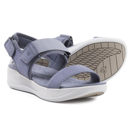 cccfdf776 Easy Spirit Jasiele9 Wedge Sandals - Leather (For Women) in Medium Blue -  Closeouts