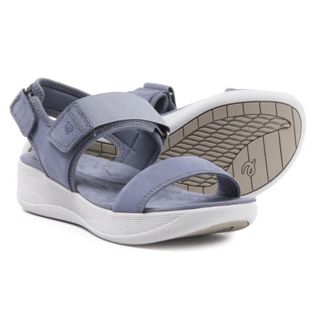 65974108e Easy Spirit Jasiele9 Wedge Sandals - Leather (For Women) in Medium Blue