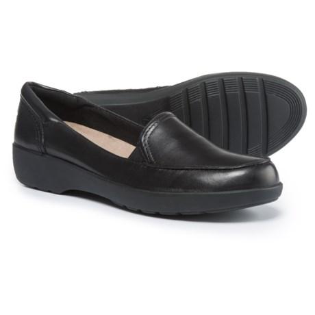 Easy Spirit Karin Loafers - Leather (For Women) in Black/Black