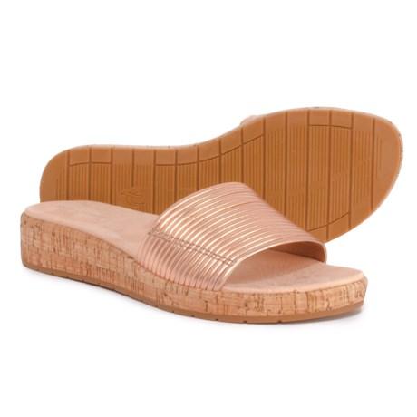 00b50d804 Easy Spirit Mullen Slide Cork Sandals - Leather (For Women) in Light Pink