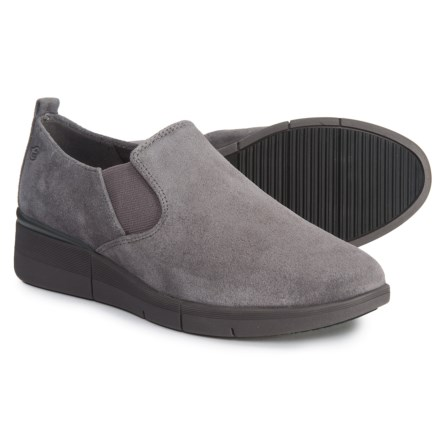 a658f20aebc Easy Spirit Plume Wedge Shoes - Suede (For Women) in New Stormy Grey Suede