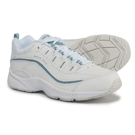 Easy Spirit Regine Walking Sneakers - Leather (For Women) in White/Light Blue