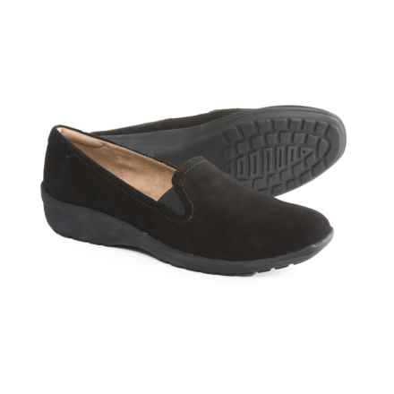 Easy Spirit Santara Shoes - Suede (For Women) in Black/Black - Closeouts