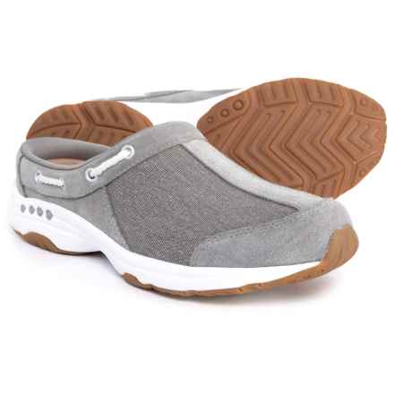 Easy Spirit Travelport 23 Shoes - Open Back, Slip-Ons (For Women) in Grey/Grey - Closeouts