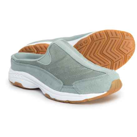 Easy Spirit Traveltime 15 Shoes - Open Back, Slip-Ons (For Women) in Medium Gray - Closeouts