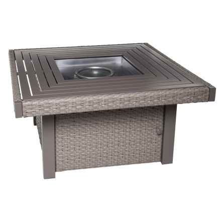 Ebel Inc Calais Square Fire Pit in Driftwood - Closeouts