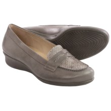 ECCO Abelone Loafers - Leather (For Women) in Warm Grey/Moon Rock - Closeouts