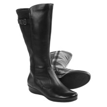 ECCO Abelone Tall Leather Boots (For Women) in Black - Closeouts