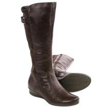 ECCO Abelone Tall Leather Boots (For Women) in Coffee - Closeouts