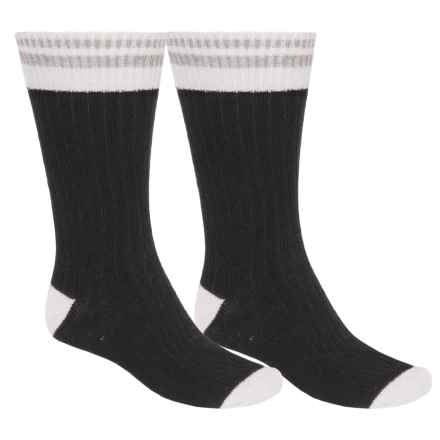 ECCO Angora-Wool Blend Casual Socks - 2-Pack, Over the Calf (For Men) in Black/Black - Closeouts