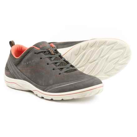ECCO Arizona Sneakers - Leather (For Women) in Dark Shadow/Coral - Closeouts