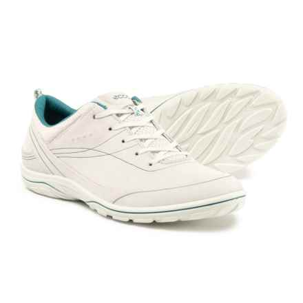 ECCO Arizona Sneakers - Leather (For Women) in White/Pagoda - Closeouts