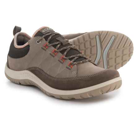 ECCO Aspina Hiking Shoes - Nubuck (For Women) in Dark Clay/Warm Grey - Closeouts