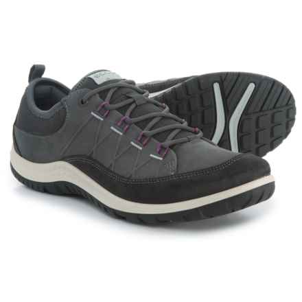 ECCO Aspina Hiking Shoes - Nubuck (For Women) in Moonless/Dark Shadow - Closeouts