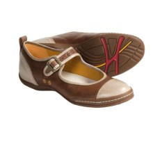 ECCO Athena Leather Shoes - Mary Janes (For Women) in Sand/Mahogany - Closeouts