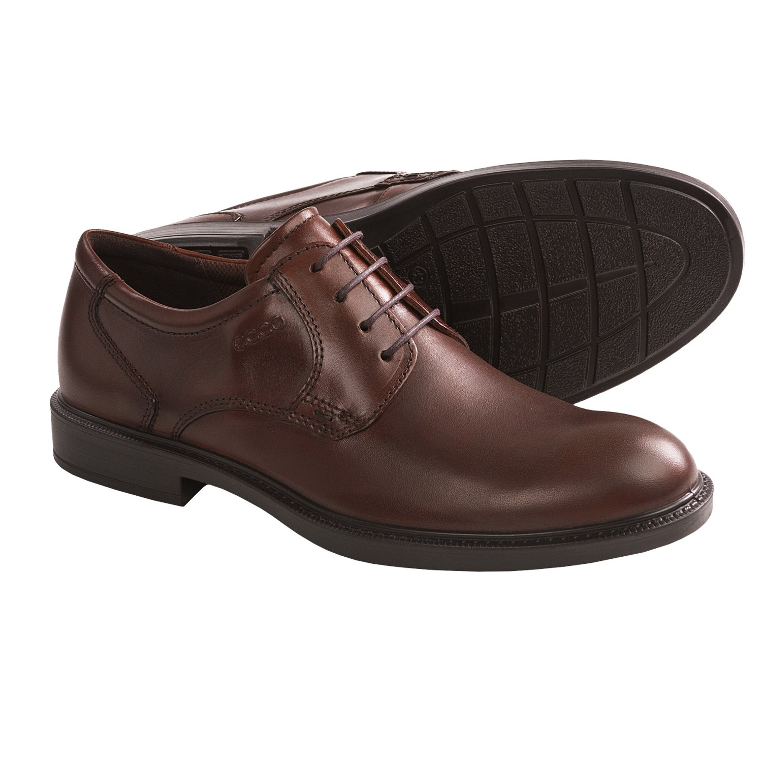Plain Toe Oxford Brown Ecco Atlanta Plain Toe Oxford
