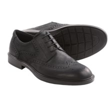 ECCO Atlanta Wingtip Oxford Shoes (For Men) in Black Nubuck - Closeouts