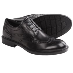 ECCO Atlanta Wingtip Oxford Shoes (For Men) in Coffee