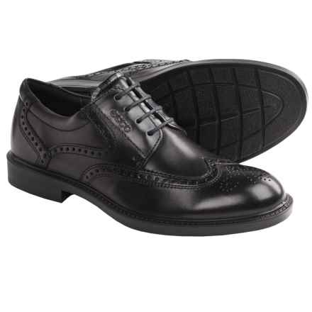 ECCO Atlanta Wingtip Oxford Shoes (For Men) in Black - Closeouts