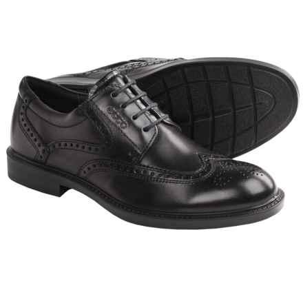 ECCO Atlanta Wingtip Oxford Shoes (For Men) in Black - Closeouts