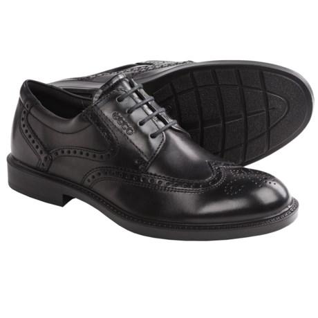ECCO Atlanta Wingtip Oxford Shoes (For Men) in Coffee