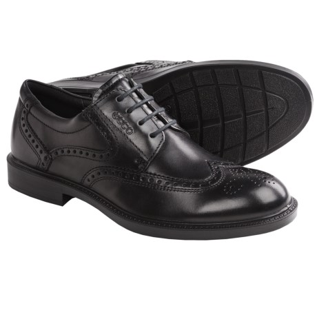 ECCO Atlanta Wingtip Oxford Shoes (For Men) in Black