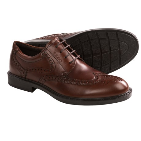 ECCO Atlanta Wingtip Oxford Shoes (For Men) in Cognac