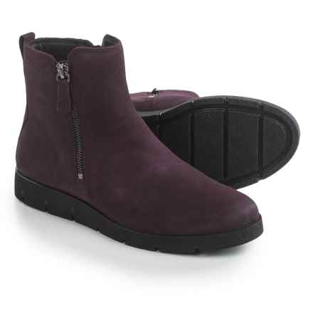 ECCO Bella Zip Ankle Boots - Nubuck (For Women) in Mauve - Closeouts