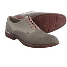 ECCO Biarritz Wingtip Oxford Shoes - Nubuck (For Men) in Warm Grey/Warm Grey - Closeouts
