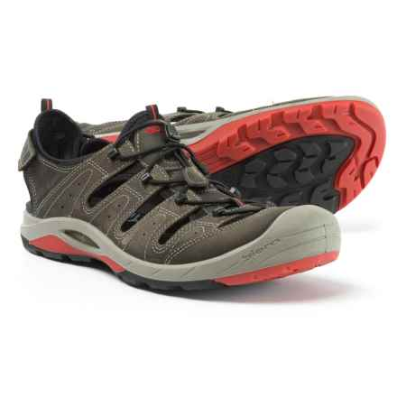 ECCO Biom Delta Fisherman Sport Sandals - Leather (For Men) in Dark Shadow - Closeouts
