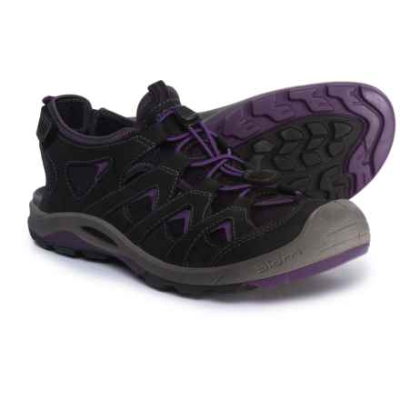 ECCO BIOM Delta Onshore Sandals (For Women) in Black/Imperial Purple - Closeouts