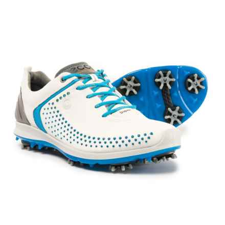 ECCO BIOM G2 Golf Shoes - Yak Leather (For Women) in White/Danube - Closeouts