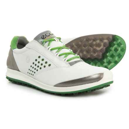 ECCO BIOM Hybrid 2 Golf Shoes (For Women) in White/Meadow - Closeouts