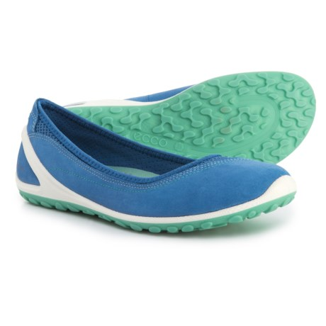 7780b17bbbcfaf ECCO BIOM® Lite Athletic Ballet Flats - Leather (For Women) in Cobalt