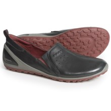 ECCO BIOM Lite Shoes - Leather (For Women) in Black/Petal Trim - Closeouts